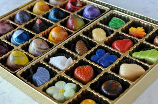 Beautiful Elegant Gold Chocolate Box Filled With Flavor And Delight