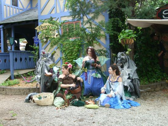 Fairy group outside the Peacock Tea Room at the Georgia Renaissance Festival.
