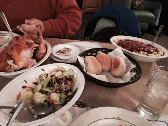 Wright's Farm Restaurant: Almoço/frango