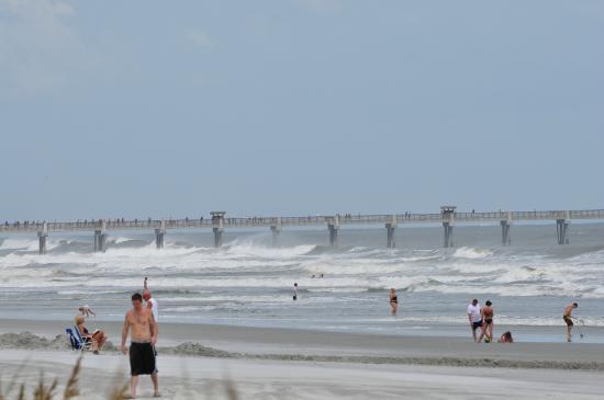 Jax Beach Hurricane Irene Fishing Pier Picture Of