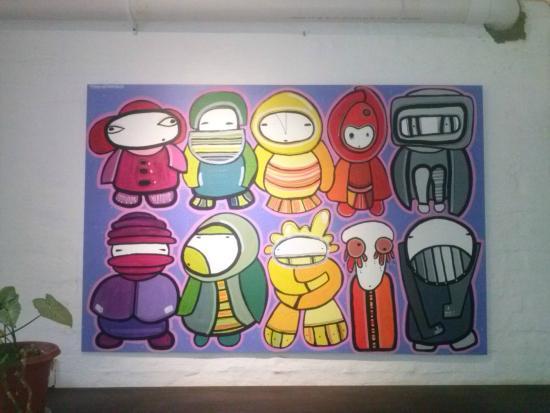 Uy! Punta Hostel: Arte na cozinha