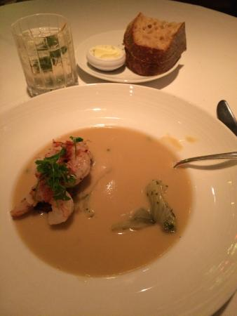 Boulevard: Crab bisque.