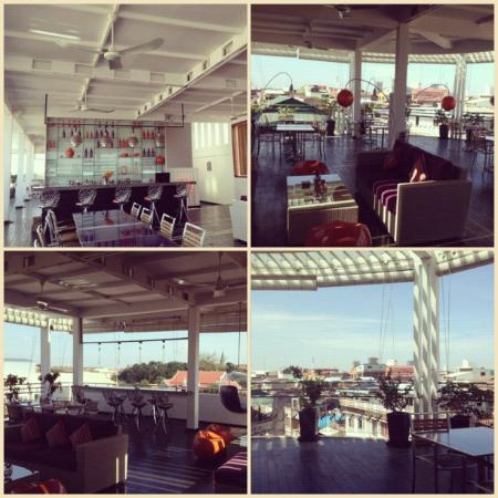 La Maison d'Ambre: Roof Top - Bar and Restaurant