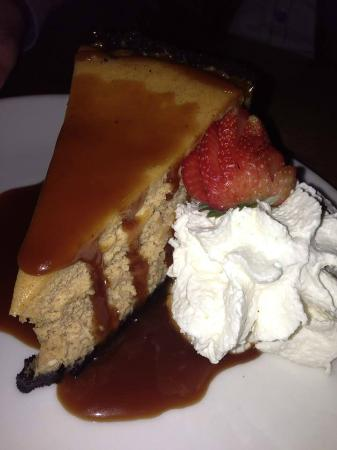 Sunriver Brewing Company: Huge slice of seasonal pumpkin cheesecake with rich carmel