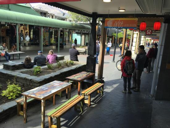 Queenstown Mall: street view from Caribe Kitchen