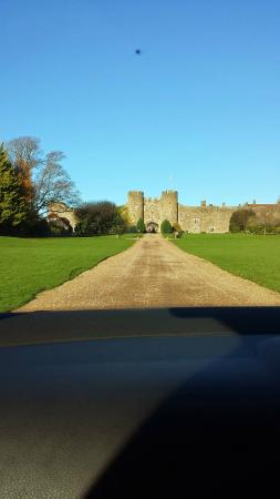 Amberley Castle: View when you arrive