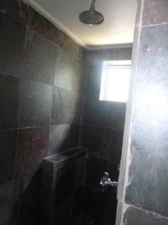 Gorgeous slate wet room shower picture of la chataigne for Slate wet room
