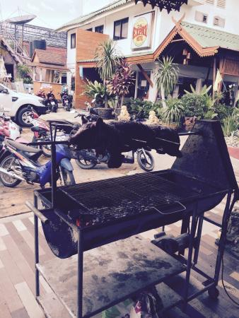 The Expat Hotel: The free pig on the spit  tasty