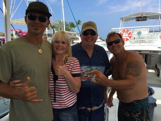 Kona Honu Divers: Back from a dive with Captain Frank, Me (Angie) Kevin & dive master Kevin! Awesome trips!!!