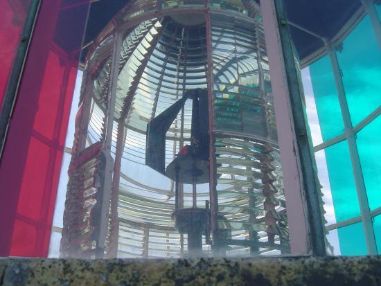 Phare de Cordouan : La lanterne en haut des marches..tout en haut.