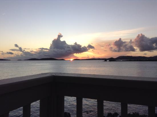 Gallows Point Resort: Sunset from the balcony