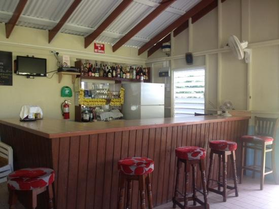 Davy Hill, Montserrat: bar area