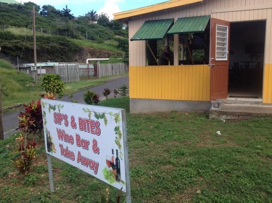 Davy Hill, Montserrat: sign