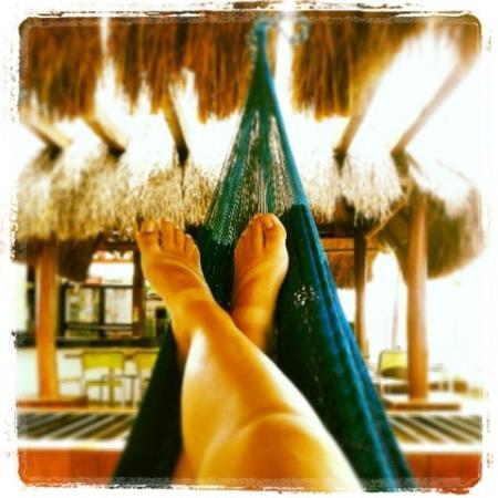 Hostel Mundo Joven Cancun: Descansando en una Hamaca en la Terraza