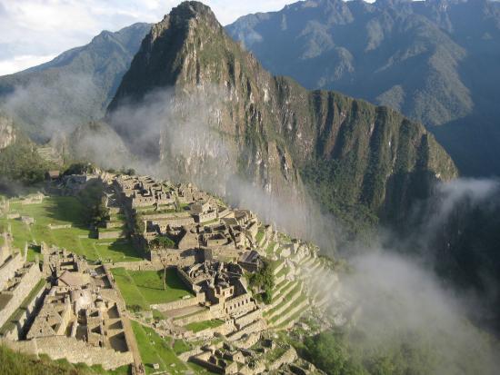 Belmond Sanctuary Lodge: Sunrise over Machu Picchu on 7 Dec 2014