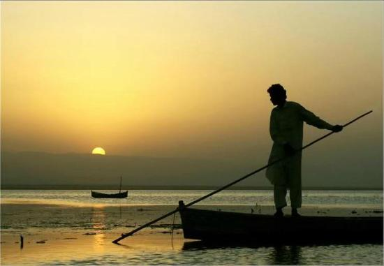 Sehwan, Pakistan: Manchar Lake