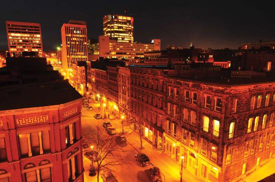 Saint John, Canada: City at night