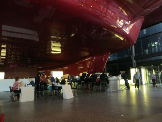 Museo Nacional Centro de Arte Reina Sofía: This cafe is in quite a weird building...
