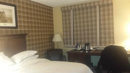 Sheraton Duluth Hotel: Double/Double room. Wallpaper and shade