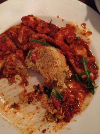 Spizzico: catfish prawns and chicken jambo