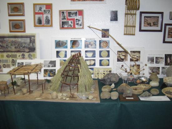 Tehachapi, Californien: museum before the trip to the indiansite