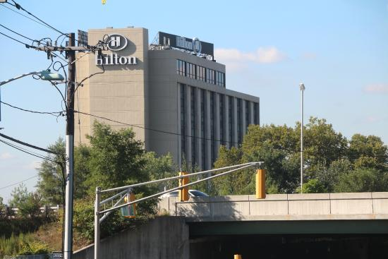 Hilton Hasbrouck Heights / Meadowlands: View from the bus station