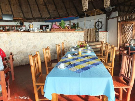 Hotel Villa Caribe: Le restaurant