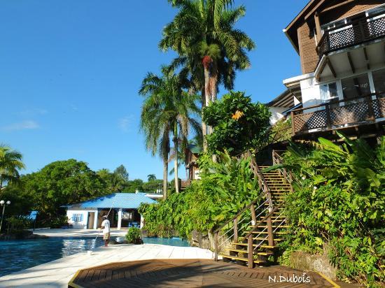 Hotel Villa Caribe: Des escaliers descendent à la piscine