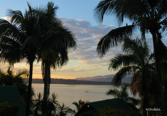 Hotel Villa Caribe: Lever du jour sur la baie