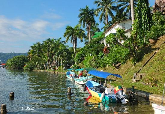 Hotel Villa Caribe: On y accède seulement en bateau