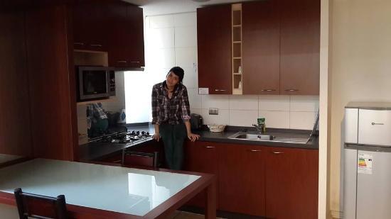 Plaza Suites Apartments : cocina del duplex