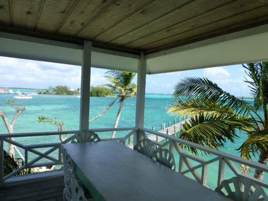 Exuma Yacht Club: The view from our table.
