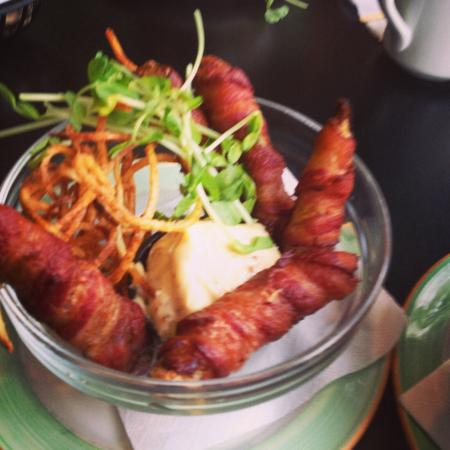 The Early Bird: Fried bacon wrapped pickles... ;)
