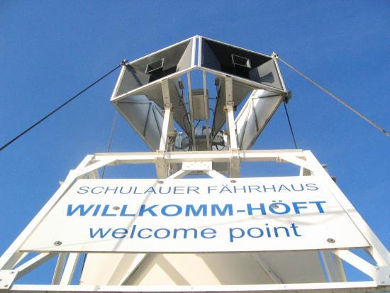 Schulauer Fährhaus und Willkomm-Höft: これで国歌を流します(Welcome Point)