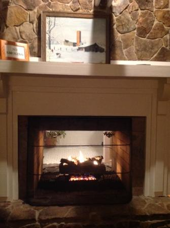 Pisgah, AL: double-sided fireplace in our Gorham's Bluff room