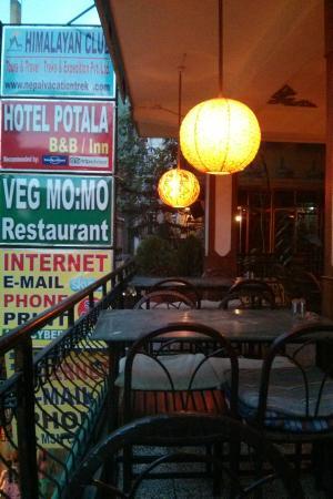 Hotel Potala: Veg Momo restaurant
