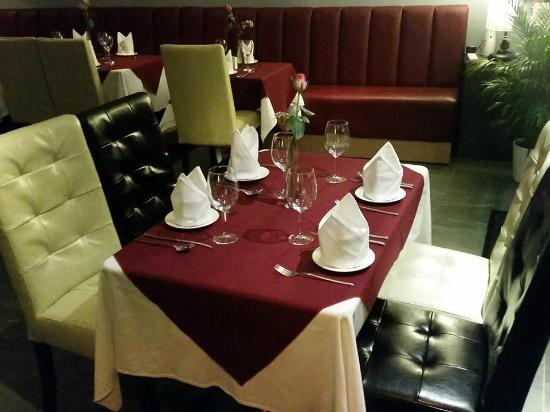 new chairs and table settings picture of andaz restaurant and