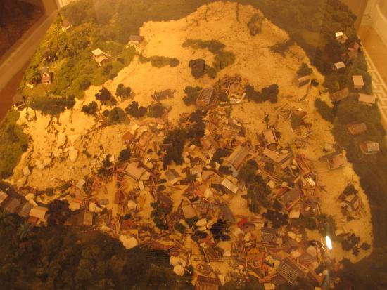 Museum of the History of Ponce: Exhibit about the Ponce landslide.