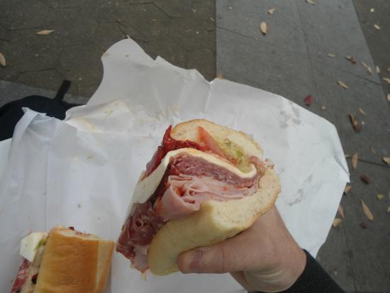Faicco's Pork Store: check out this sandwich!