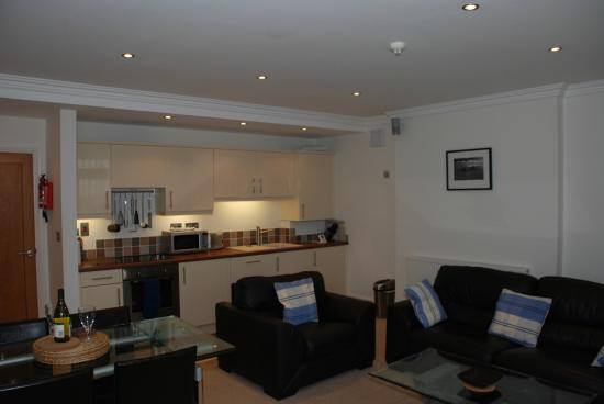 Southover Beach Apartments: Large Open plan living