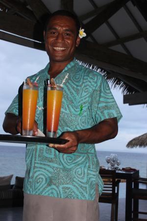 Tadrai Island Resort: fresh fruit cocktails