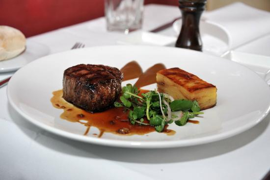 Sapore Ristorante: char-grilled, pasture-fed eye fillet with a truffle & potato galette