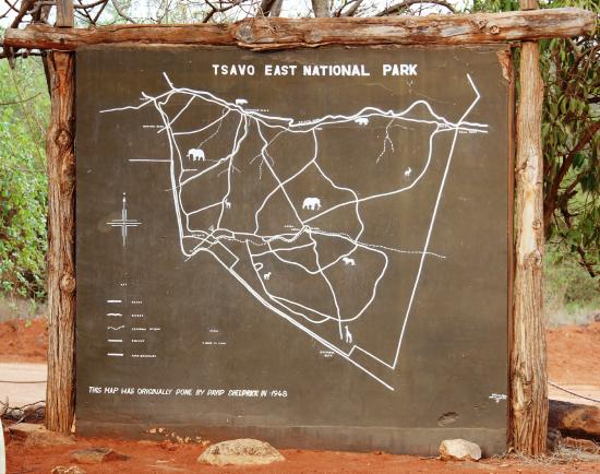Tsavo National Park East, Kenya: The Big Map
