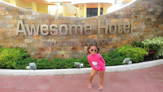 Holiday Hotel: My daughter before she swims in the pool