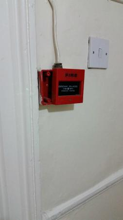 The Continental Hotel: dodgy fire alarm box