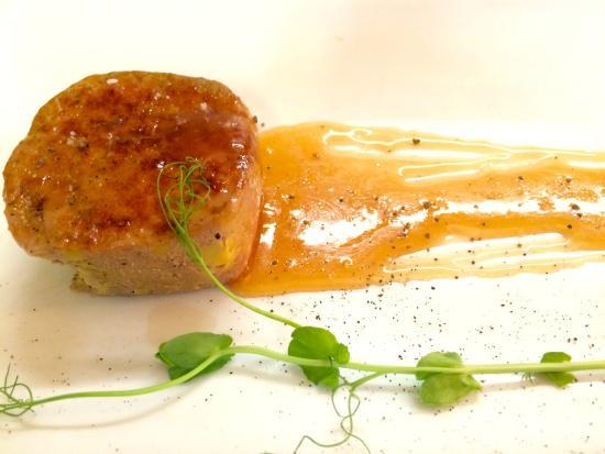 Corazon De Alcachofa Av Mexico: Torchon de Foie Gras con gastrique de naranja!!
