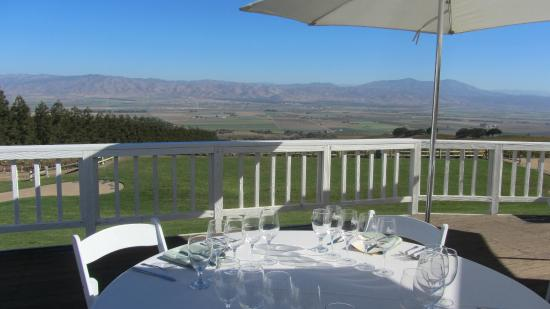 Hahn Estate Winery: The terrace...