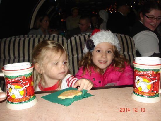 Saratoga and North Creek Railway: cookies and hot chocolate