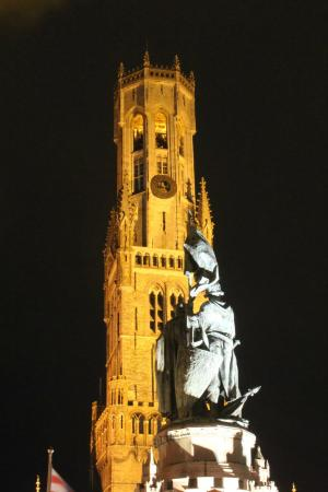 Your Bruges Tours: The Belfry by night, fun history about that !