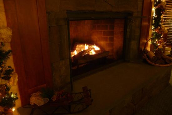 Gorges Grant Hotel: Fireplace, in lobby. You actually felt you could sit here and enjoy it. I did!